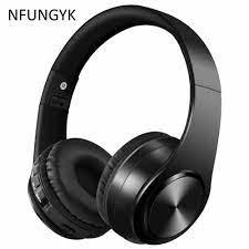 NFUNGYK Bluetooth tai nghe tai nghe âm bass thể thao headphone hỗ trợ TF  AUX Với Mic Cho PC điện thoại di động tốt nhất tai nghe không dây