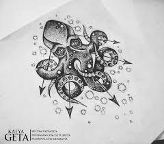 осьминог кальмар тату эскизы татуировки эскизы значение надписи