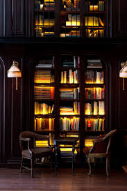 Home library lighting Country Style Home Bookcase Tones And Lighting Pinterest Bookcase Tones And Lighting Where The Books Live Bookshelves