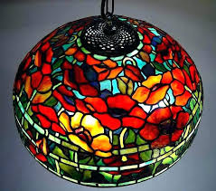 tiffany hanging lamps value leaded glass lamps antique j a leaded