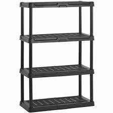 wall free duty four surprising your heavy plastic idea shelves rack unit standing shelving white shelf