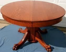 wonderful antique oak clawfoot lion s head pedestal dining table antique round tiger oak antique round oak