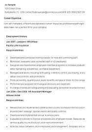 Sample Human Resources Resumes Resume Pro Magnificent Entry Level Human Resources Resume