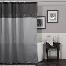 image of grey shower curtain ideas
