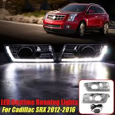 2012 Cadillac Srx Fog Lights Details About Pair White Led Drl Daytime Running Light Fog Lamps For Cadillac Srx 2012 2016