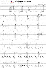 Guitar Tab Chart Pdf Divagando Choros Semenzato Classical Guitar Tab