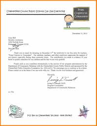 Thank You Letter For Food Donation Examples Of Thank You Letters For Donations Fundraising Letter