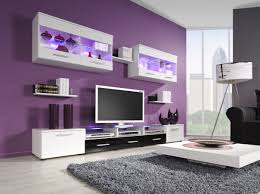 Purple Living Room Rugs Tv Stands Black Color Modern Tv Stands For Flat Screens