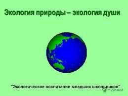 Экологическое воспитание младших школьников во внеурочной  экологическое воспитание младших школьников во внеурочной деятельности