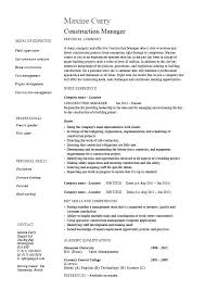 Construction Resume Sample Cool Sample Resume For Construction Project Manager Download By