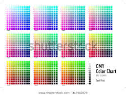 Cmyk Press Color Chart Stock Vector Royalty Free 343942829