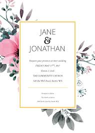 Wedding Invitation Template Online Floral Splash Wedding Invitation Template Free Online
