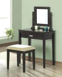 vanity set with lighted mirror black