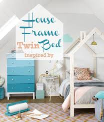 Free plans to build a kid's bed inspired by this unique house frame ...