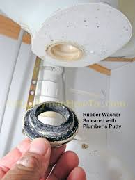 pop up sink drain repair remove the rubber gasket and metal washer