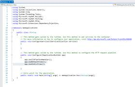 Starting with ASP .NET 5 (empty project) and static files ...