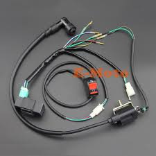 popular cdi ignition wire buy cheap cdi ignition wire lots from complete kick start engine wiring harness loom cdi ignition coil kill switch for 50cc 110cc 125cc