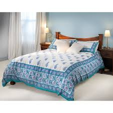 turquoise paisley duvet cover set king size natural collection select