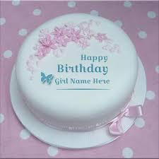 Cake Pop Ideas For Birthdays Write Girl Name On Butterfly Design