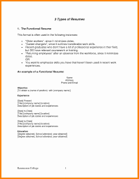 Functional Resume Format Template Free Job Proposal Template T