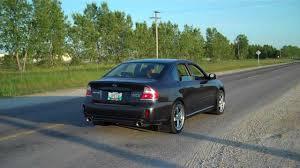2008 Subaru Legacy Spec B turbo back exhaust - YouTube