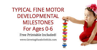 Baby Milestone Chart 0 6 Typical Fine Motor Developmental Milestones For Ages 0 6