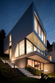 view modern house lights. A Minimalist Interior In An Elegant Austrian Home With Lovely Lake View: Smart Lighting Of View Modern House Lights S