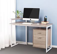 office desk with shelf. merax stylish computer desk home and office table furniture with drawer printer shelf