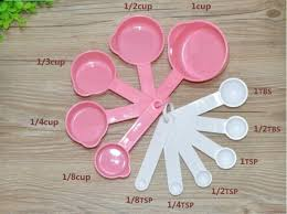 Tazas y cucharas medidoras repostería utensilios repostería