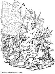 Small Picture fantasy pages for adult coloring Coloring page forest fairy