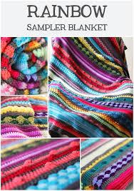 Patterned Blankets Gorgeous Free Crochet Pattern Colourful Rainbow Sampler Blanket HaakMaarraak