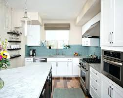 white kitchen cabinets with glass tile backsplash view in gallery blue glass subway tile brings with