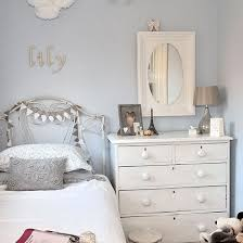 Big girl rooms  Pale blue and white girls bedroom
