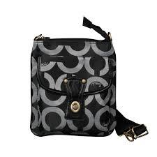 Coach Turnlock Signature Small Black Crossbody Bags EPM