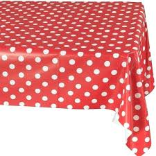 red and white polka dot tablecloth vinyl inch x indoor round fabric