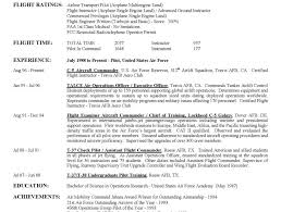 Military Pilot Resume Format Plane Salary Airline Employment