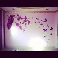 Cute Wall Designs With Paint Simple Wall Designs Stencils Excellent Bedroom Painting