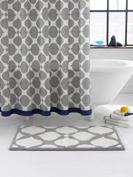 view in gallery navy and grey shower curtain from jonathan adler