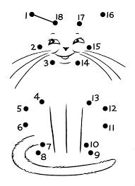 dot to dot cat worksheet | Crafts and Worksheets for Preschool ...