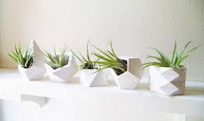 Geometric Mini Desk Planters - unique planters