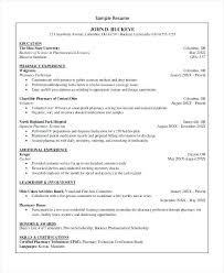 Kroger Resume Examples Experienced Pharmacy Technician Resume Sample Tech Senior Certified