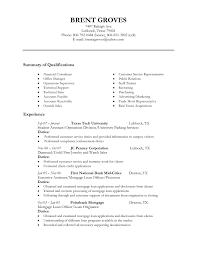 Mortgage Originator Resume Reference Customer Serviceficer Resume