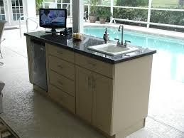 Cabinets For Outdoor Kitchen An Outdoor Kitchen For People Who Dont Cook Outdoors Soleic