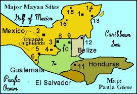the ancient maya geography Mayan Cities Map the ancient maya mayan city map