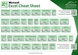 Excel Cheat Sheet Album Microsoft And Life Hacks