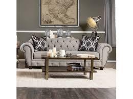 modern victorian furniture. Viviana Modern Victorian Style Gray Fabric Sofa Couch Furniture I