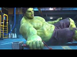 thor vs hulk fight scene the