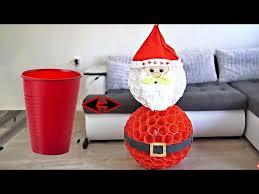 DIY <b>Santa</b> Claus from CUPS | <b>Christmas decor</b> - YouTube