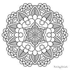 Easy Mandala Coloring Pages Beautiful Free Mandala Coloring Pages