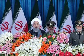 Image result for حضور حجتالاسلام حسن روحانی رئیسجمهور و فرماندهان عالیرتبه نظامی، در جوار حرم مطهر امام خمینی(ره)